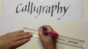 calligraphy measuring lines youtube