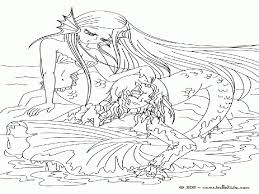 coloring pages mermaid coloring home