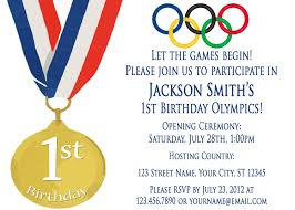Sensational Theme by Olympic Party Invitations Dhavalthakur Com