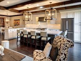 tropical kitchen with kitchen island u0026 flat panel cabinets
