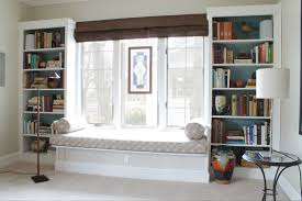 living room great looking bay window seat design with twin white