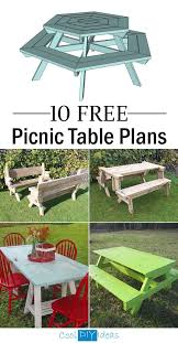 Wooden Folding Picnic Table Plans by Best 25 Folding Picnic Table Ideas Only On Pinterest Outdoor