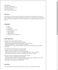 Financial Planner Resume Sample by Professional Automotive Service Advisor Templates To Showcase Your