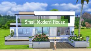 sims 4 house building small modern house youtube