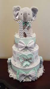 elephant diaper cake cake ideas