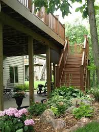 Backyards Ideas Patios by Best 25 Under Deck Landscaping Ideas On Pinterest Patio Under