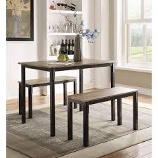 4d concepts boltzero 3 piece walnut and black dining set 159356 boltzero 3 piece walnut and black dining set