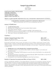 Example Of Military Resume  resume examples civilian resume