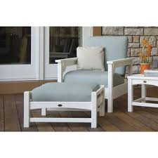 Deep Seat Patio Chair Cushions Polywood Club White 3 Piece Plastic Patio Deep Seating Set With