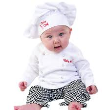 Halloween Costumes Infants 3 6 Months Amazon Baby Aspen Baby Chef 3 Piece Layette Culinary Gift