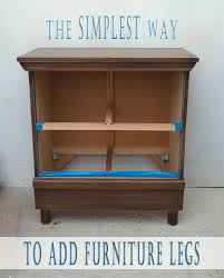 the simplest way to add furniture legs salvaged inspirations