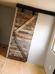 Diy Barn Doors by My Sliding Door Made Of Pallet Wood U2026 Pinteres U2026