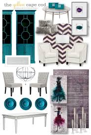 Teal Livingroom by The Yellow Cape Cod Teal Purple And Gray Living Room And Dining