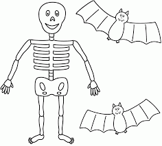 skeleton coloring pages olegandreev me