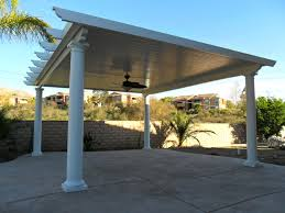Simple Covered Patio Designs by Exterior Design Simple Alumawood Patio Cover With Outdoor Bench