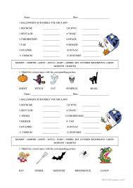 printable halloween worksheets barbara s beat dare to play halloween word scramble on disney