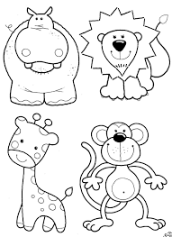 coloring pages for toddlers animals archives within animal