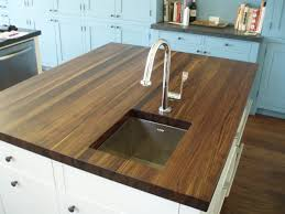 Kitchen Island With Chopping Block Top Kitchen Makes A Beautiful Kitchen Island With Walnut Countertop
