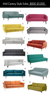 Mid Century Modern Sofas by Best 20 Mid Century Couch Ideas On Pinterest Mid Century Modern