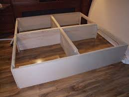 King Platform Bed Plans With Drawers by Easy Instructions To Build A King Size Storage Platform Bed