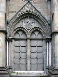 Keyhole Doorway by Door At Nidaros Cathedral In Trondheim Norway Founded C 1070