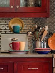 Red White And Black Kitchen Ideas Kitchen Kitchen Cream Tiles White Floor Black And Red Backsplash T