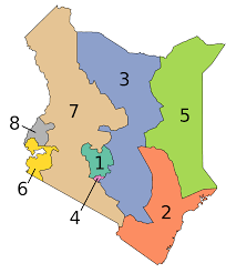 Map Of Kenya Africa by Provinces Of Kenya Wikipedia