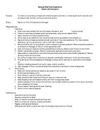 Example Server Resume by Example Of Job Duties For Resume
