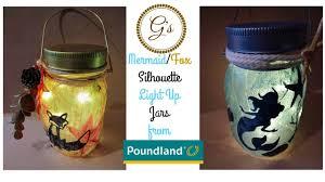 Nautical Home Accessories 1 Poundland Craft Silhouette Mermaid Light Up Jar Nautical Ocean
