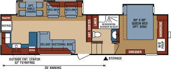Fifth Wheel Bunkhouse Floor Plans Kz Durango 315rkd Rear Kitchen Luxury Fifth Wheel