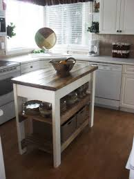 Kitchen Island With Chopping Block Top Small Kitchen Island Table With Butcher Block Tops And Two Bottom