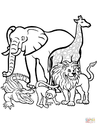 zoo animals coloring page free printable coloring pages