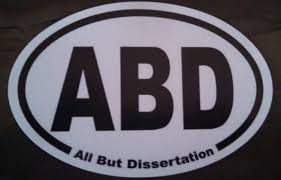 Dissertation   Etsy Etsy ABD  All But Dissertation  Oval Car Magnet