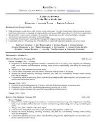 A resume template for a Store Manager or Owner  You can download it and make