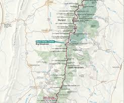 Virginia On Map by Maps Shenandoah National Park U S National Park Service