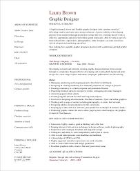 Graphic Designer Resume Sample by Simple Resume Example 8 Samples In Word Pdf