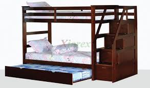 Bunk Beds With Slide And Stairs Alcor Twin Over Twin Bunk Bed With Storage Stairs And Trundle Xiorex