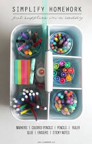 One of my favorite kids      organizing projects ever has been our homework caddy  It     s Pinterest