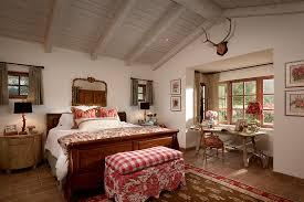 Bay Window Desk Ticking Fabric Bedroom Mediterranean With Antlers Bay Window