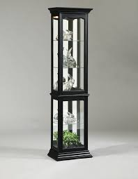 oxford black corner curio cabinet with light best home furniture