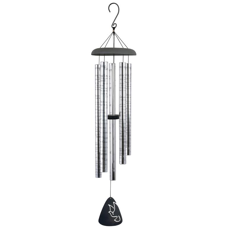 Carson Home Accents 44 Inch Amazing Grace Sonnet Outdoor Garden Metal Wind Chime