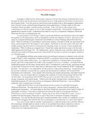 Example Personal Statement For Nursing Program General Essay