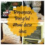 Upcycled Repurposed home decor ideas {Newbie with a twist ...