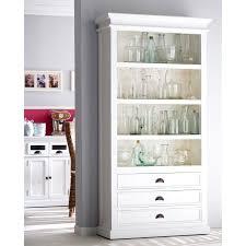 4 Shelf Bookcase White by Halifax White Mahogany Bookcase With 3 Drawers Hayneedle
