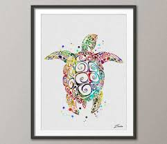 sea turtle wall art etsy sea turtle poster print watercolor green decor art