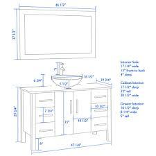 Amazoncom  Inch Wood  Glass Single Vessel Sink Bathroom - Height of bathroom vanity for vessel sink