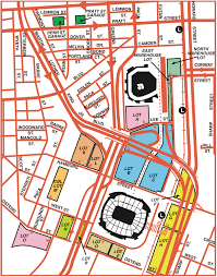 Chicago Parking Map by Camden Yards Parking Guide Maps Tips Deals Spg