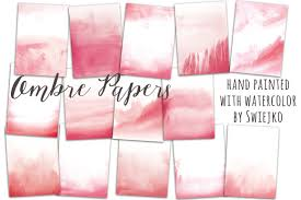 Ombre Background Watercolor Ombre Background Textures Creative Market