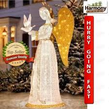 Christmas Yard Decoration Images Yard Christmas Angel Lighted Decoration Outdoor Decor Vintage Dove