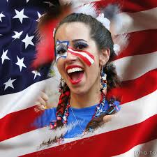 patriotic halloween costume ideas patriotic american celebrates the 4th of july with usa face